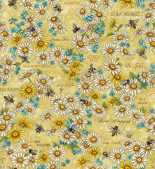 Bee Kind Flowers & Works Gold - 634