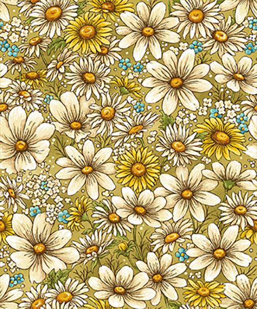 Bee Kind Daisy Allover Gold - 633