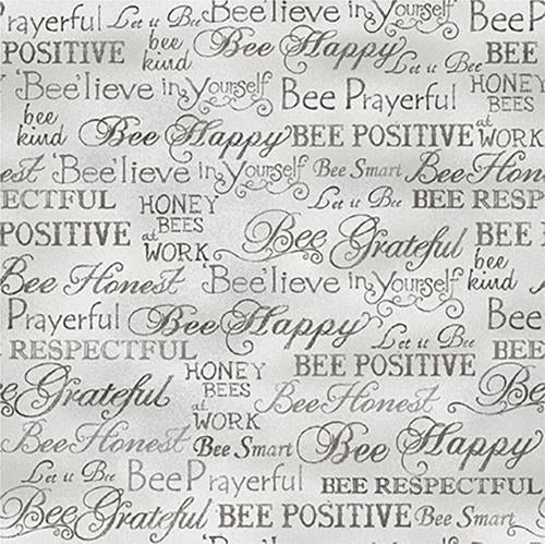 Bee Kind Words Grey - 638
