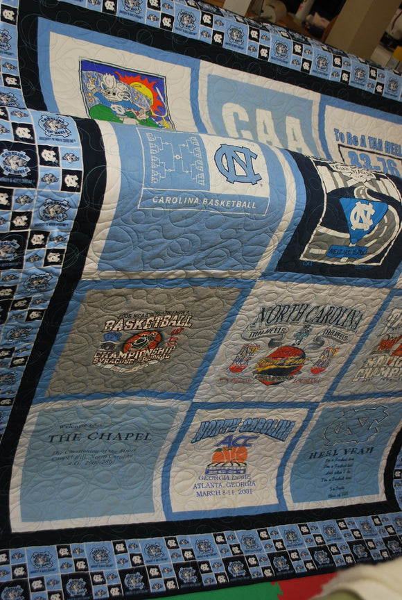 Carolina Home T-shirt Quilt