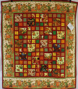 Scarecrow Charm Patch Quilt