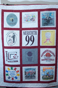 Meredith College T-Shirt Quilt