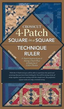 Square in a Square 4-patch Crosscut Ruler