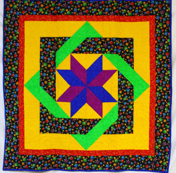 Snowman Carpenter Star Quilt