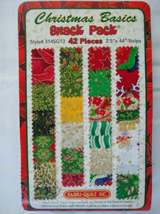 "Christmas Basics Snack Pack 42 pieces 2.5"" x 44"" - 7012"