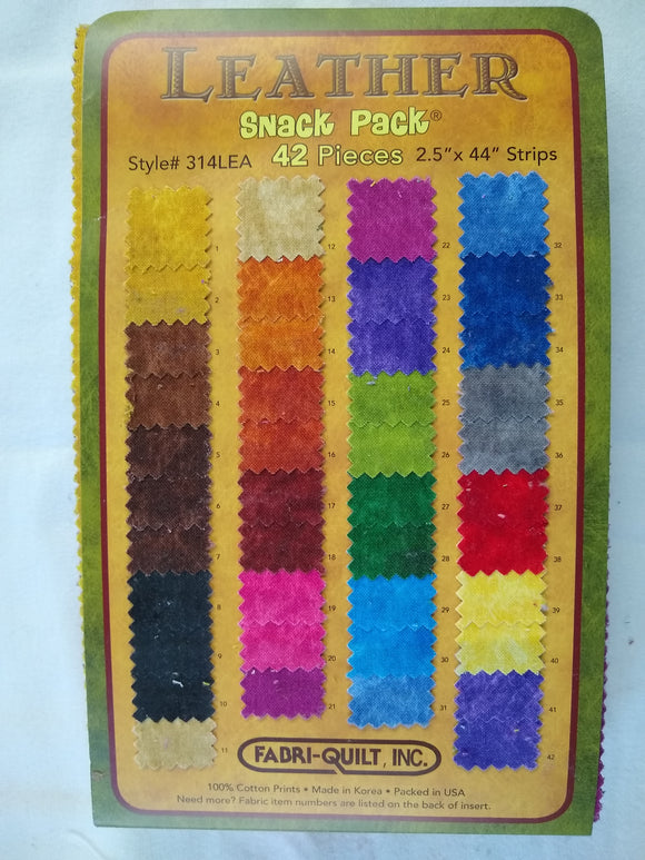 Leather Snack Pack 42 pieces of 2.5