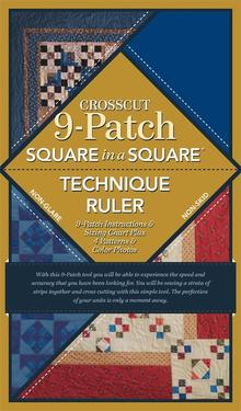 Square in a Square 9-patch Crosscut Ruler