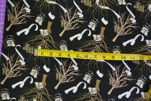 Roll the Quad Wake Forest Fabric - Smaller Scale