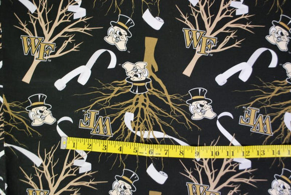 Roll the Quad Wake Forest Fabric - Large Scale