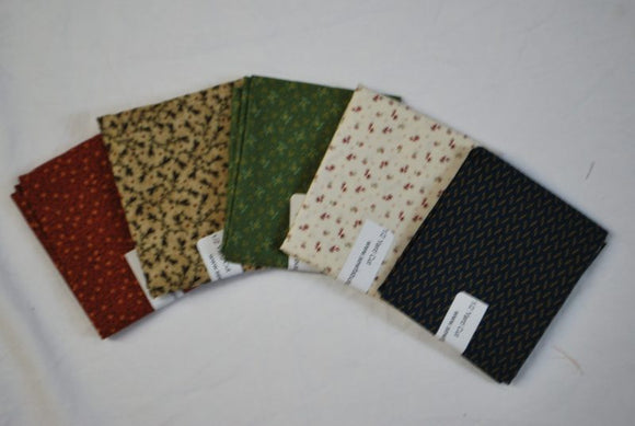 5 Half Yards Bundle pack #1014 Waddington Road & Friends 3