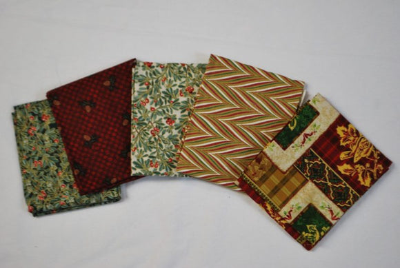 5 Half Yards Bundle pack #1021 Christmas Collection #2
