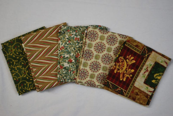 5 Half Yards Bundle pack #1022 Christmas Collection #3