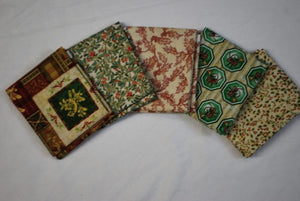 5 Half Yards Bundle pack #1023 Christmas Collection #4
