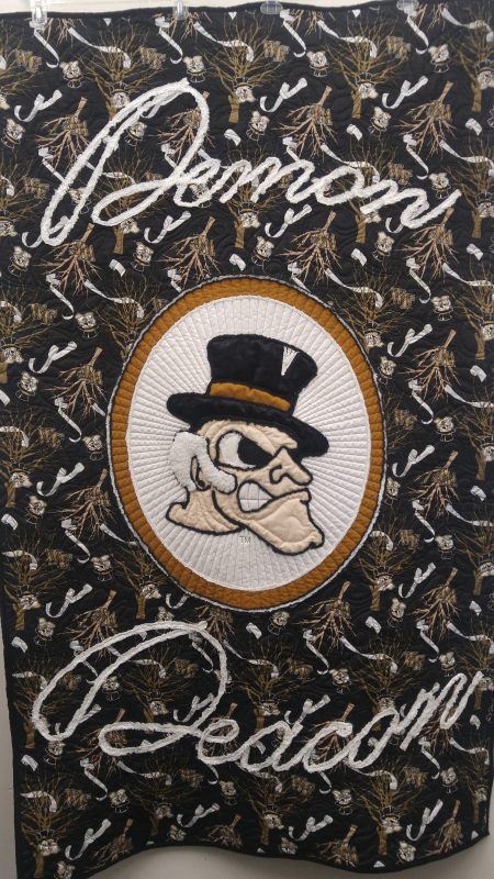 WF Roll the Quad Demon Deacon Quilt
