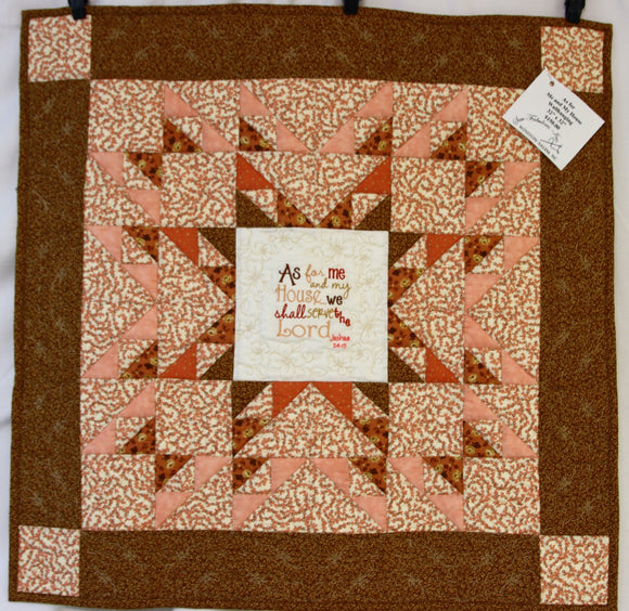As For Me and My House Star Quilted Wallhanging
