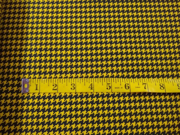 Yellow and Black Houndstooth 76