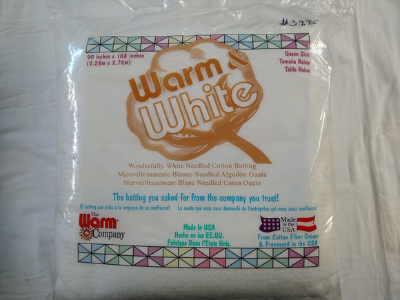 Queensize Batting Warm & White - 675