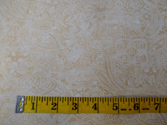 Precut, 3 yards Wide Backing - Subtle Paisley Light Tan #687