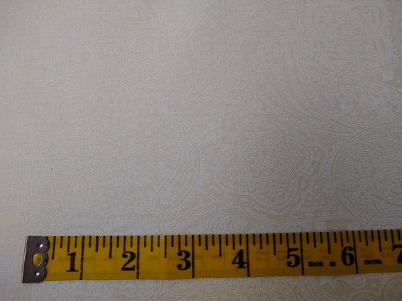 Precut, 3 yards Wide Backing - Subtle Paisley Off white #686