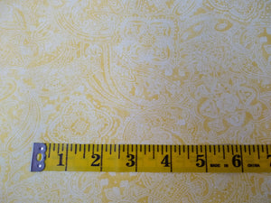Precut, 3 yards Wide Backing - Subtle Paisley Yellow #679