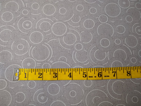 Precut, 3 yards Wide Backing - Spirals Gray #689
