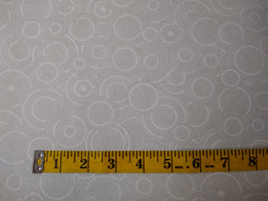 Precut, 3 yards Wide Backing - Spirals Pale Gray #688