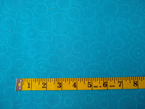 Precut, 3 yards Wide Backing - Spirals Aqua #691