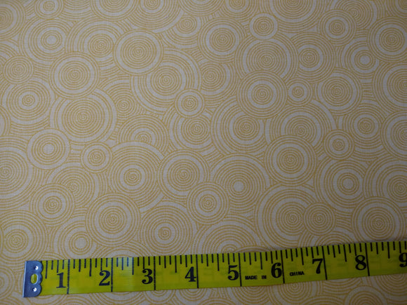 Precut, 3 yards Wide Backing - Spirals Light Orange #693