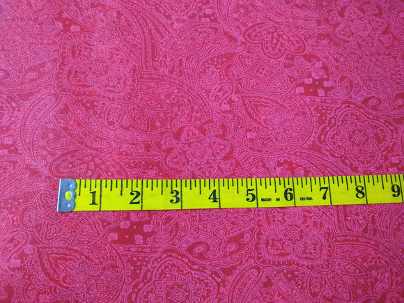 Precut, 3 yards Wide Backing - Paisley Red #682