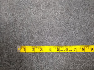 Precut, 3 yards Wide Backing - Subtle Paisley Charcoal #680