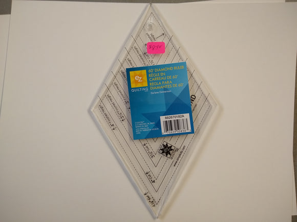 EZ Quilting 60 Degree Diamond Ruler