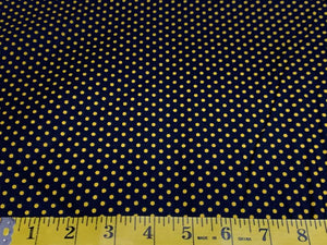 Black with Gold Polka Dots 90