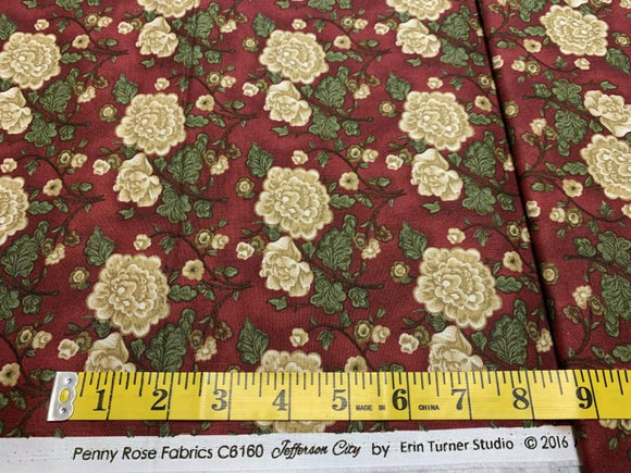 Jefferson City - Roses on Burgundy 327