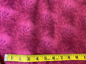 Precut: 3 yards Vines Fuchsia: 108″ Wide 450