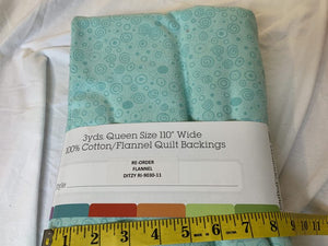 Precut: 3 yards Supersoft Flannel Aqua – Fit For a Queen Ditzy:  110″ Wide 455