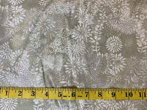 Precut: 3 yards Flower Garden Taupe tonal: 108″ Wide 462