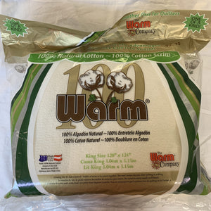 Warm 100 King Size Quilting Batting #539