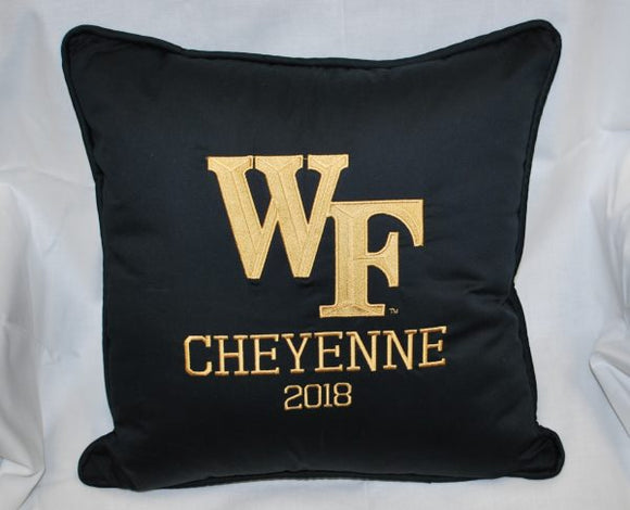 Wake Forest Embroidered Pillow! Personalized! or Discount without personalization