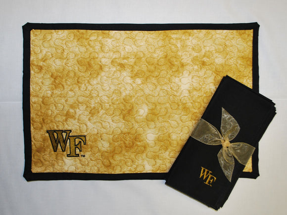 Wake Forest Quilted Placemat