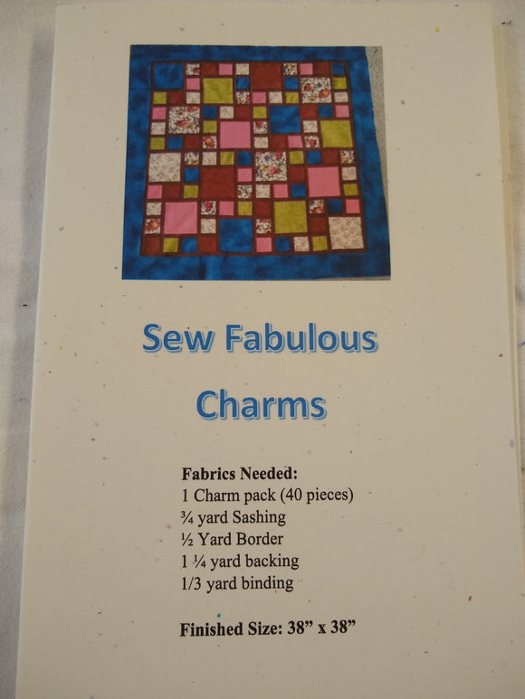 Sew Fabulous Charms Pattern #2003