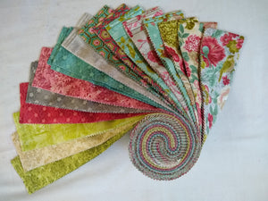 "Walk in the Park Jelly Roll 40 pieces,  2.5"" x 45"" - 7019"