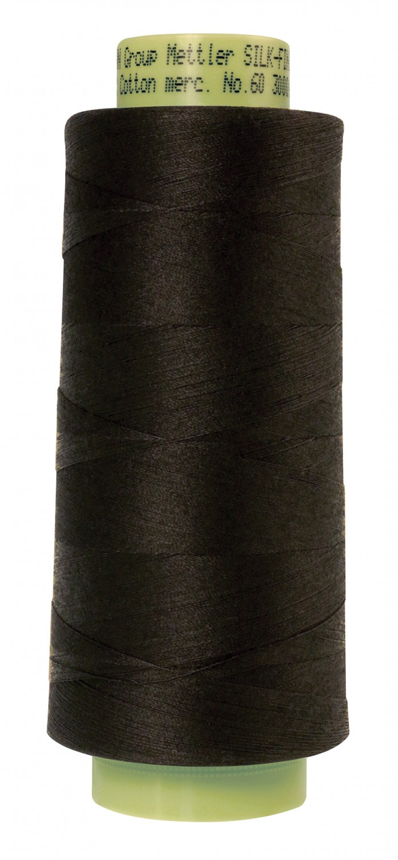 Mettler Silk Finish 60wt Cotton Thread 3000yd/2743M - Black
