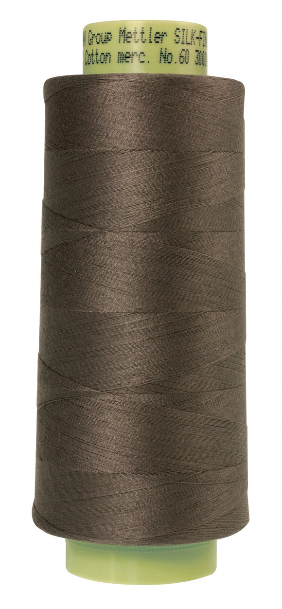 Mettler Silk Finish 60wt Cotton Thread 3000yd/2743M - Dark Charcoal
