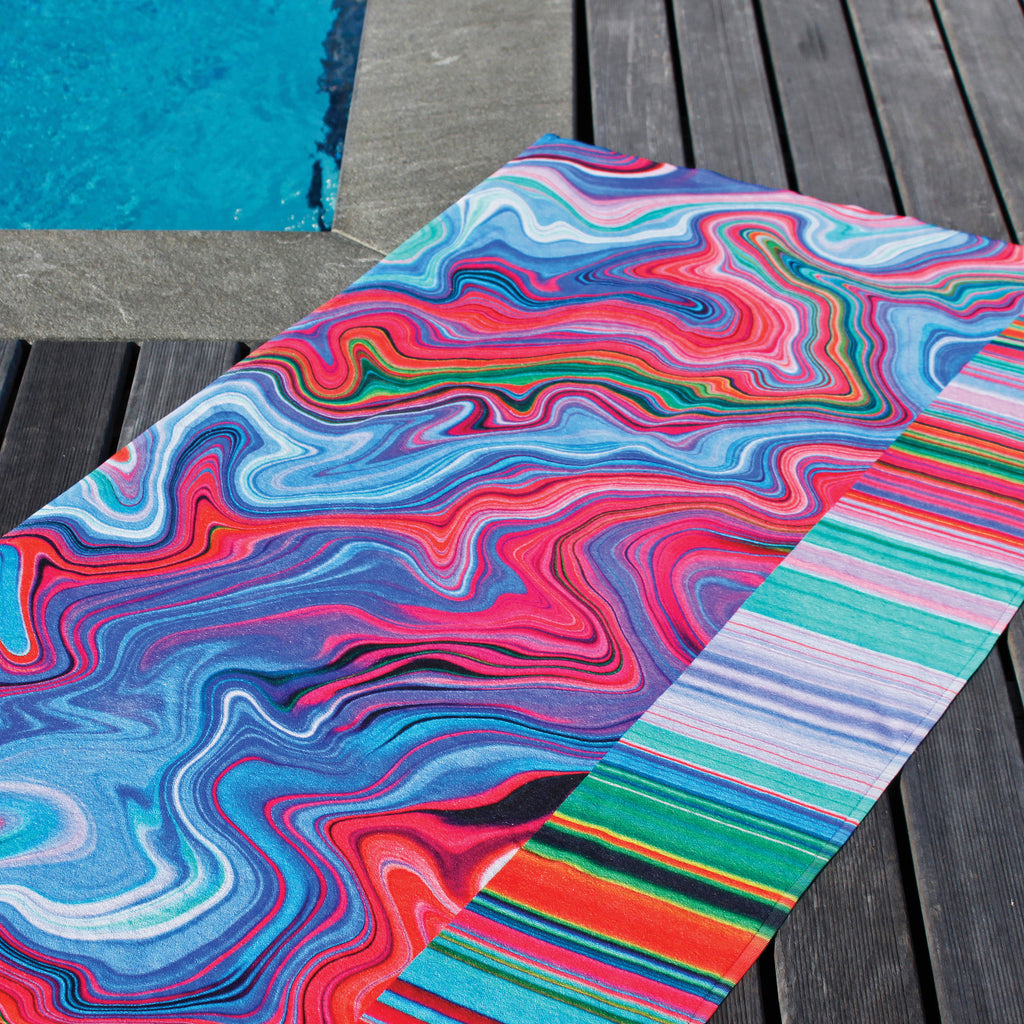 Op art beach towel by Ana Romero