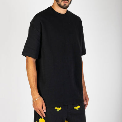 100% cotton waffle oversized fit t-shirt top with drop shoulder and boxy shape.