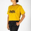 """Cinéma"" screen printed short-sleeved T-shirt."