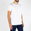 Regular fit white tee made from 100% super soft cotton.