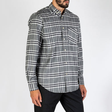 Heavy plaid shirt made from a soft cotton.