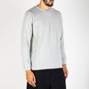 Grey cotton and wool blend knit sweater.