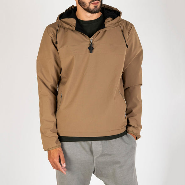 Sandstone jacket with main body in warm micro polar.